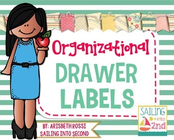 Organizational Drawer Labels {Editable}