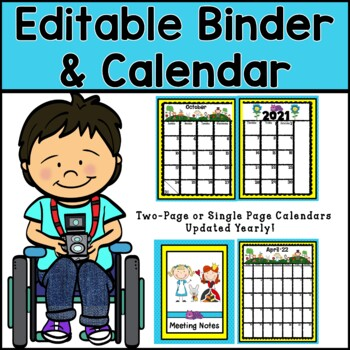 Organizational Editable Binder and Calendar Pages (Alice in Wonderland Theme)