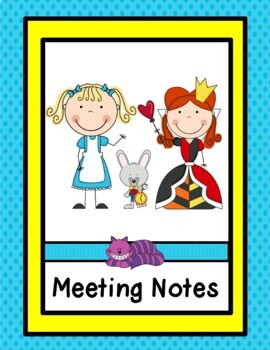 Organizational Editable Binder and Calendar Pages (Alice in Wonderland Theme)