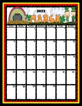 Organizational Editable Binder and Calendar Pages:Red, Yellow, Black Theme