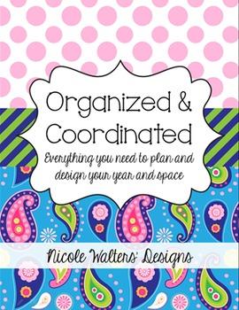 Organizational Packet {Blue Paisley}