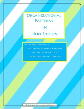 Organizational Patterns: Study guide, interactive notebook page, and TEST!