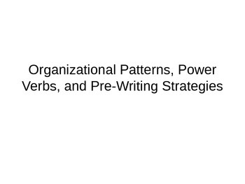 Organizational Patterns and Power Verbs