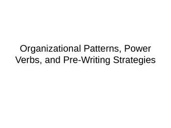 Organizational Patterns and Power Verbs