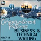 Organizational Patterns in Business Writing - Worksheet