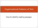 Organizational Patterns of Text