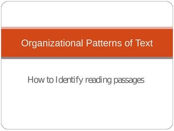 Organizational Patterns of Text