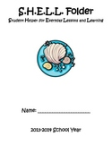 Organizational SHELL Folder (Student Helper for Everyday Lessons and Learning)