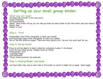 Organizational Small Group Tools & Binder