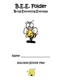 Organizational Student BEE Folder (Bring Everything Everyday)