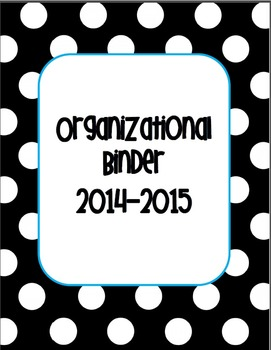 Organizational Teacher Binder