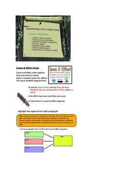 Organizational Text Structure EXAMPLE