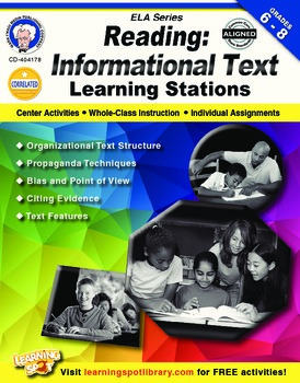 Organizational Text Structures/Organizational Patterns Stations Book