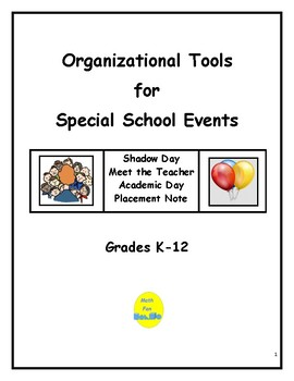 Organizational Tools for Special School Events