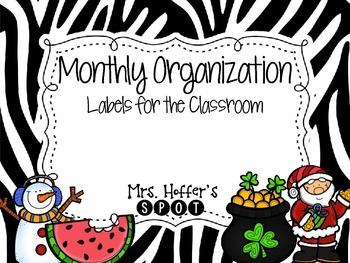Organizational Tub Labels {Zebra}