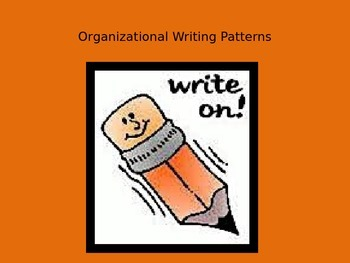 Organizational Writing Patterns PowerPoint