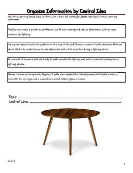 Organize Information by Central Idea/Topic - Grade 6