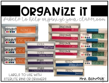 Organize It! Editable Labels