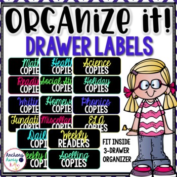Organize It drawer labels!