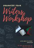 Organize My Writer's Workshop -- Pack of Printables