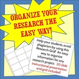 Organize Research the Easy Way & Avoid Plagiarism