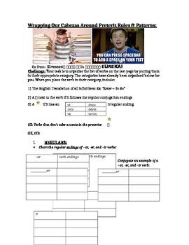 Organize Spanish Preterit Verbs Based on Patterns