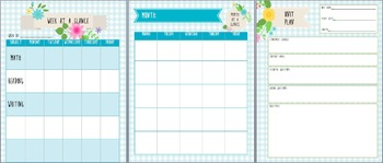 Organize Your Life: Flower Themed Teacher Notebook Pages- Everything You Need!