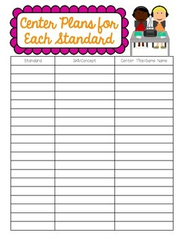 Organize Your Centers by Standard