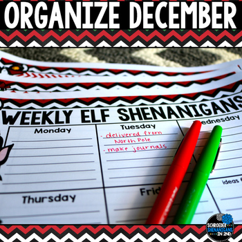 Organize Your December - Calendars, schedules, checklists, and more!