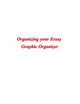 Organize Your Essay Graphic Organizer