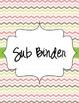 Music Teacher Binder Covers {Multi Colored Chevron- Kodaly