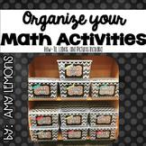 Organize Your Math Bins!  Labels {editable}