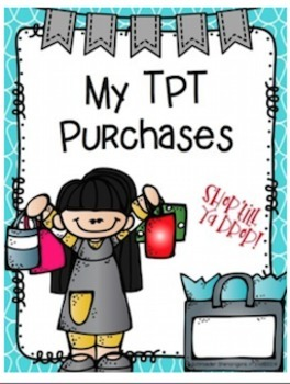 Organize Your TPT Purchases, files, clipart, borders, and more! EDITABLE!
