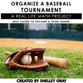 Organize a Baseball Tournament   Math Project Numbers to 100   DIGITAL INCLUDED