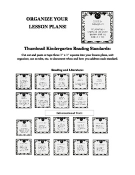 Organize your Lesson Plans with Stylish Common Core Thumbnails