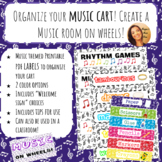 Organize your Music Cart! (or classroom) Colorful Music labels & Welcome signs