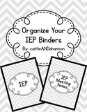 Organize your Student IEP Binder with Dividers