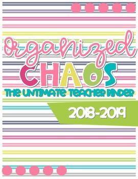 Organized Chaos Teacher Binder: Bright Colors