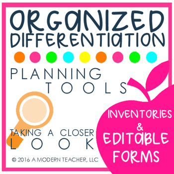 Organized Differentiation Tools for Planning