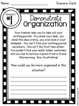 Organized - Go Character Ed - Positive Behavior Traits