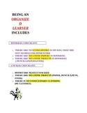 Organized Learners Checklist