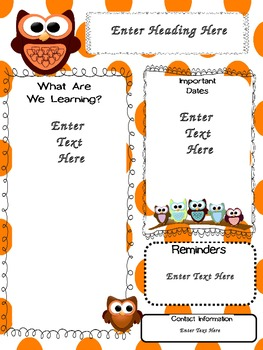 Organized Owls: Bubble Newsletters