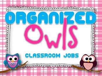 Organized Owls: Classroom Jobs