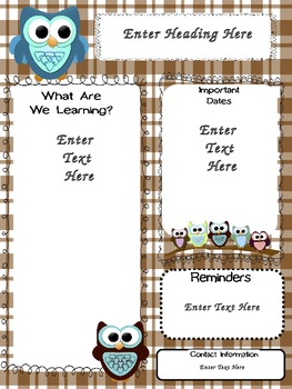 Organized Owls: Plaid Newsletters