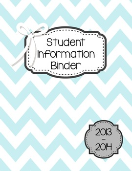 Organized Student Information Binder