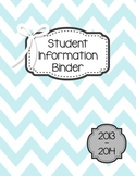 Organized Student Information Binder
