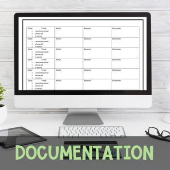 Organized Student Information/Parent Communication Log (English & Spanish)