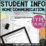 Student Information and Parent Communication Log (English & Spanish)