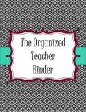 Organized Teacher Binder-Black and White