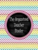 Organized Teacher Binder-Rainbow Theme